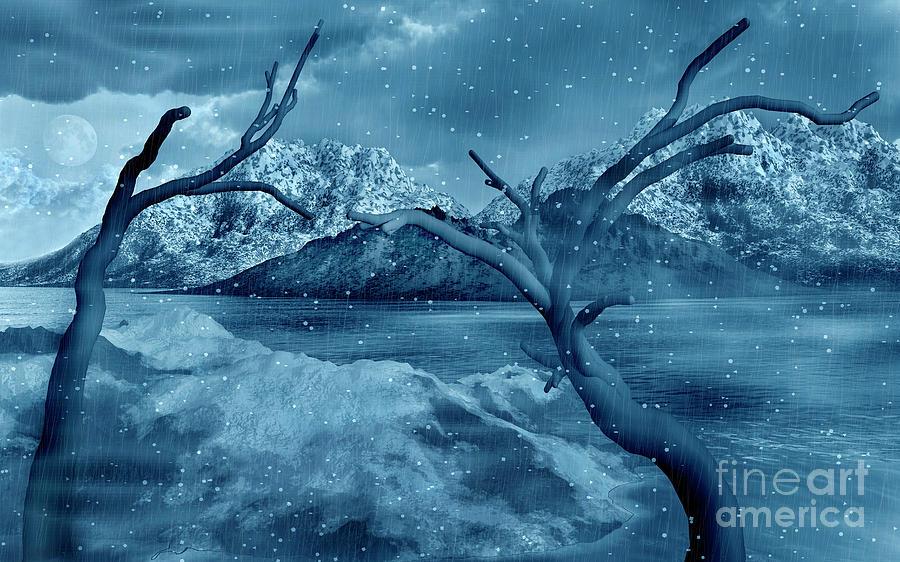 No People Digital Art - Artists Concept Of A Dangerous Snow by Mark Stevenson