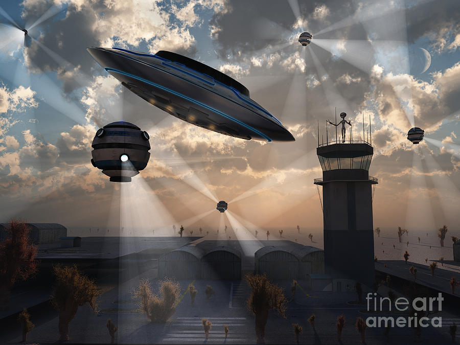 Digitally Generated Image Digital Art - Artists Concept Of Stealth Technology by Mark Stevenson
