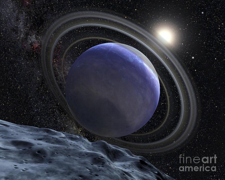 Planetary Digital Art - Artists Illustration Of An Extrasolar by Stocktrek Images
