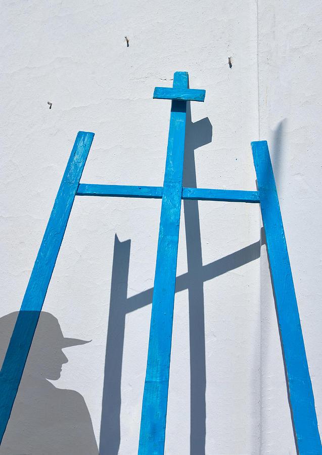 Vertical Photograph - Artists Shadow by Salvator Barki