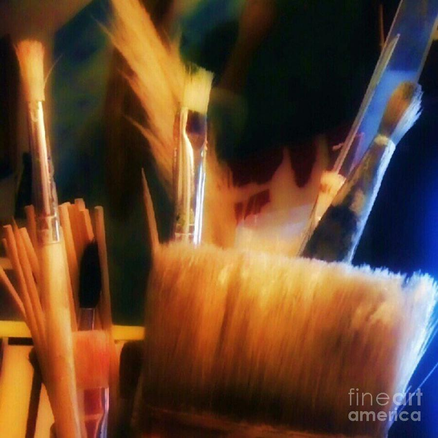 Paintbrush Photograph - Artists Tools by YoursByShores Isabella Shores