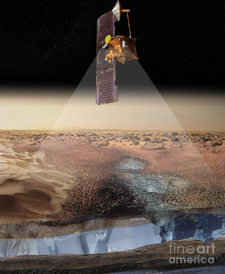 Artists View Of Odyssey Detecting Ice Digital Art