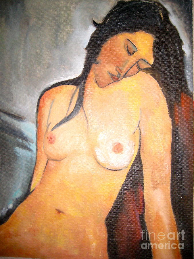 Female Nude Painting - Artists Wife by Cynthia Mozingo