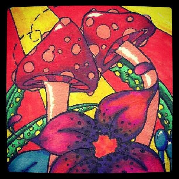 Shrooms Photograph - Artwork Is Mine #art #myart #shrooms by Jamie H