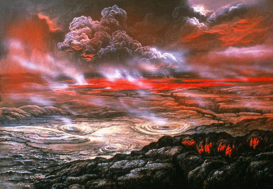 artwork of lava flows on the surface of venus photograph by ludek pesek