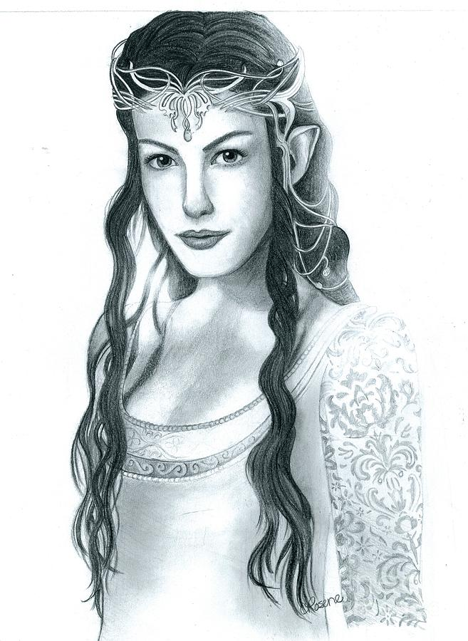 Arwen Undomiel Drawing by Crystal Rosene