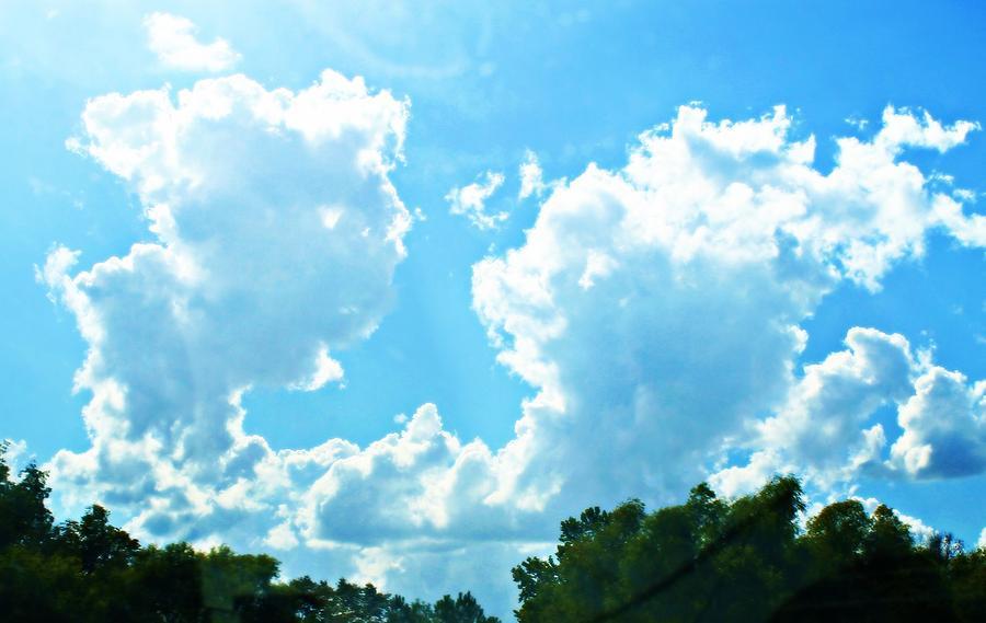 Sky Photograph - As Blue As The Sky Can Be by Hannah Miller
