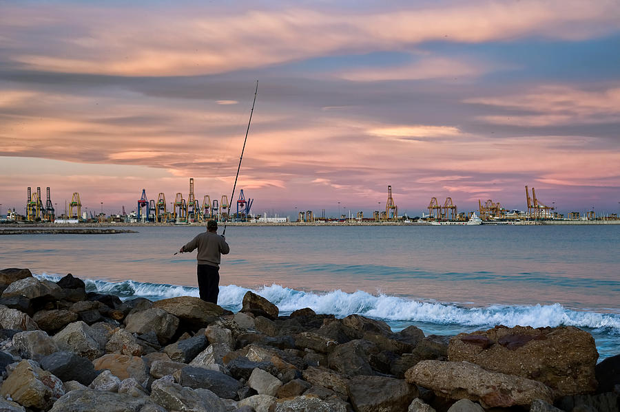 Man Fishing Photograph - As He Caught His Dinner .... by Juan Carlos Ferro Duque