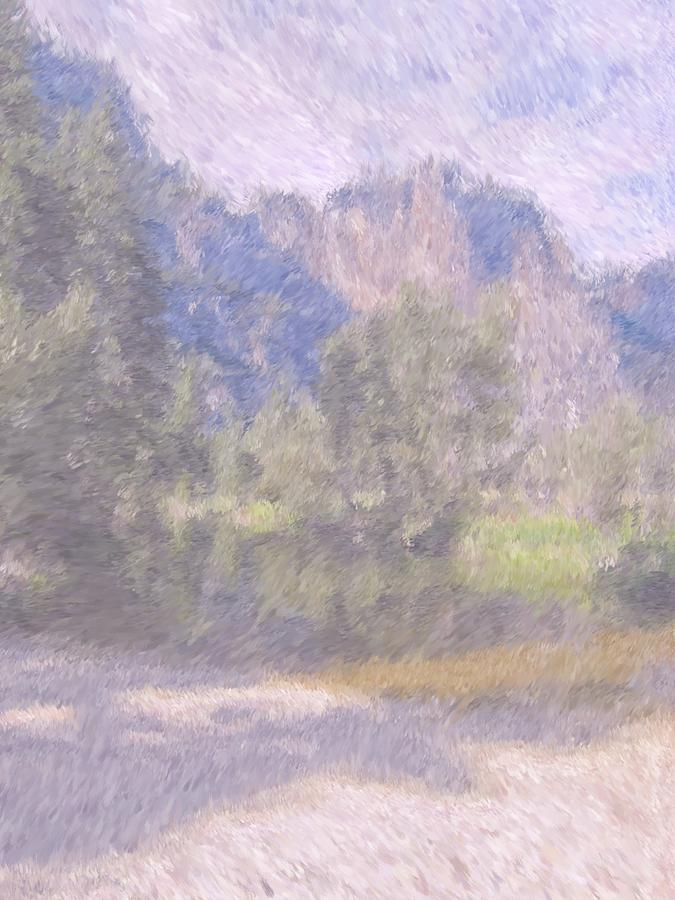 Monet Photograph - As If Monet Painted Yosemite by Heidi Smith