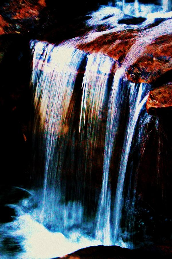 Waterfall Photograph - As The Water Falls by Hannah Miller