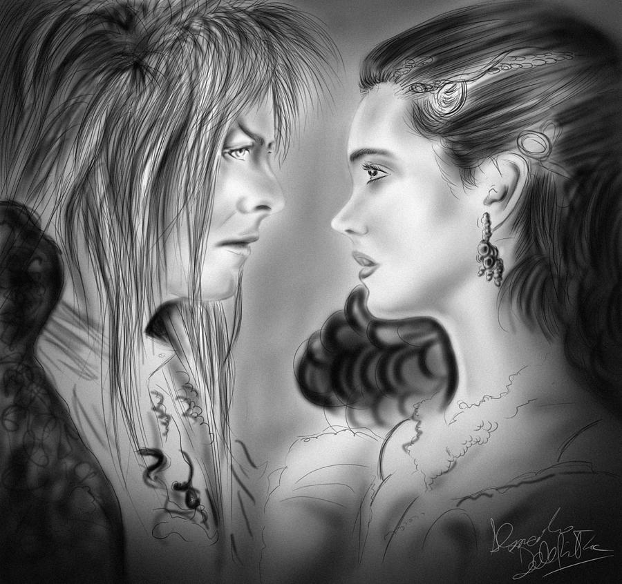 Labyrinth Drawing - As The World Falls Down by Alessandro Della Pietra