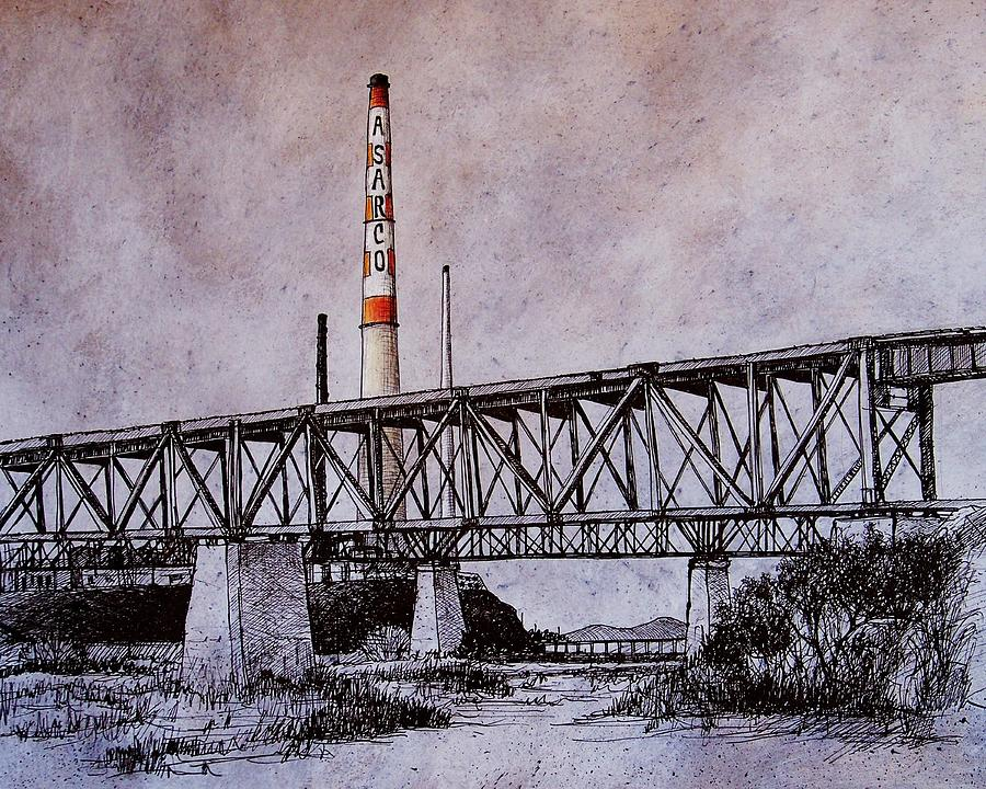 Asarco Drawing - Asarco In Pen And Ink by Candy Mayer