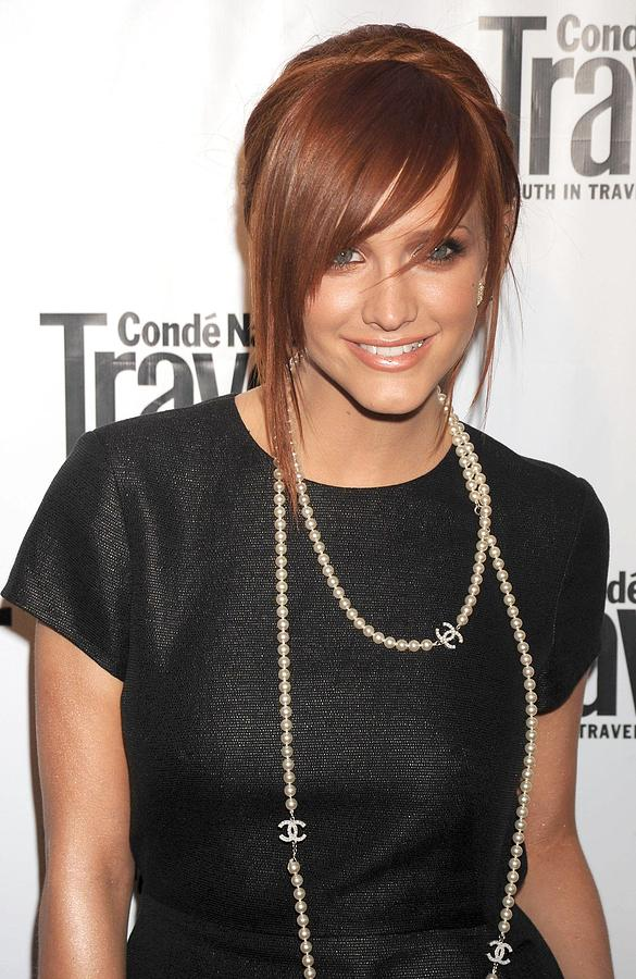 Annual Hot List Issue Party Hosted By Conde Nast Traveler Photograph - Ashlee Simpson Wearing A 3.1 Phillip by Everett