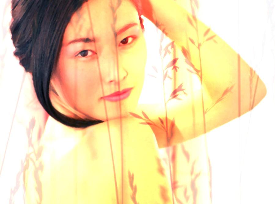 Woman Digital Art - Asian Beauty by Ruth Kongaika