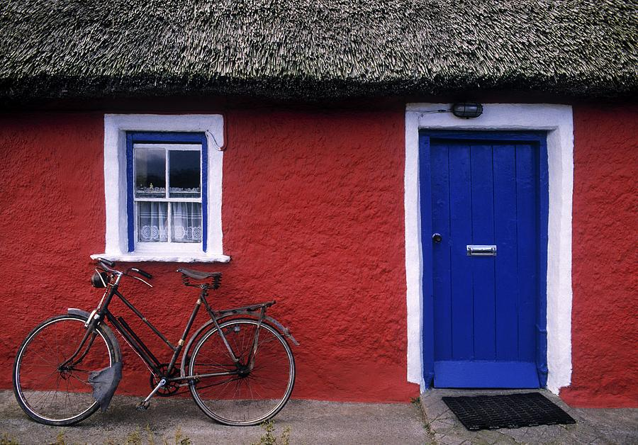 County Limerick Photograph - Askeaton, Co Limerick, Ireland, Bicycle by The Irish Image Collection