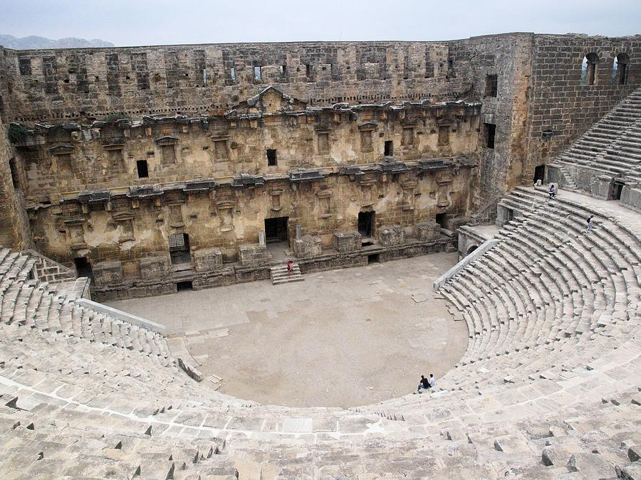 Turkey Photograph - Aspendos Roman Theatre by