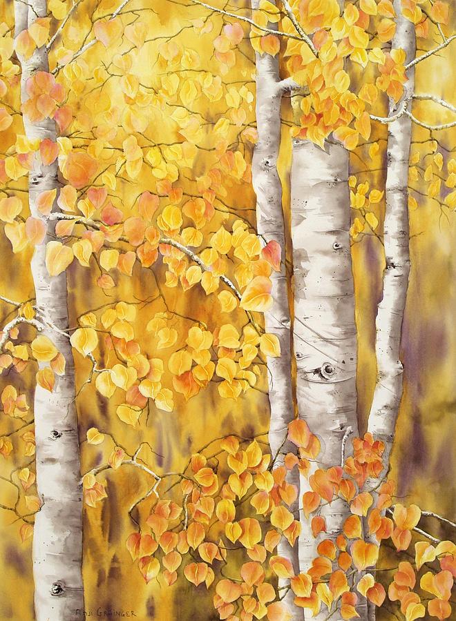 Aspen S Fall Painting By Angela Grainger