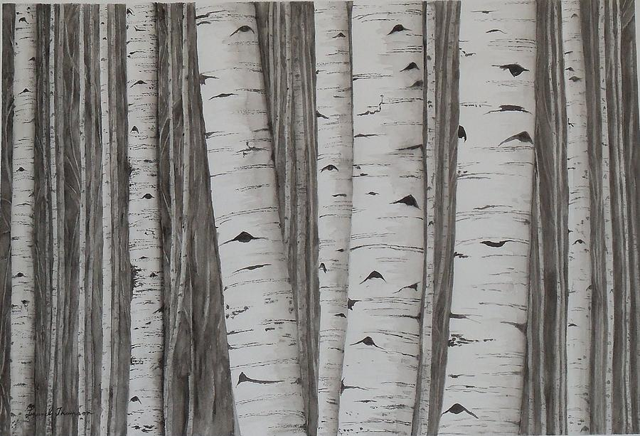 Trees Painting - Aspens No. 1 by Laurel Thomson