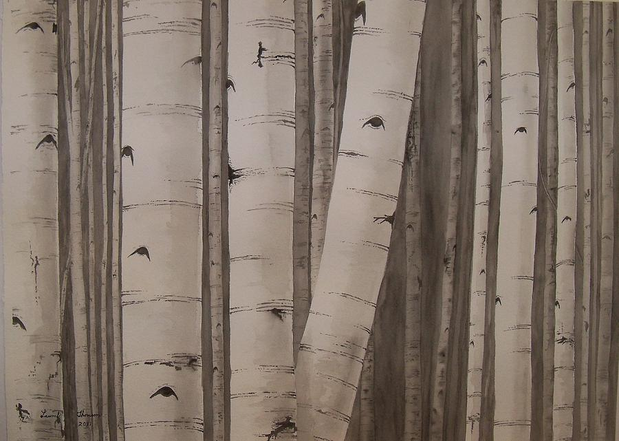 Trees Painting - Aspens No. 2 by Laurel Thomson