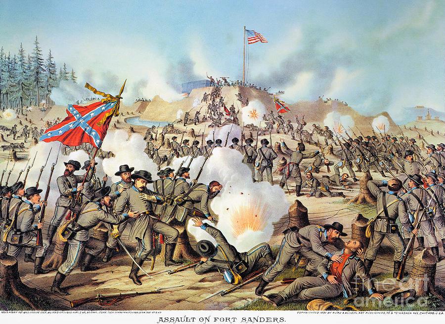1863 Photograph - Assault On Fort Sanders by Granger