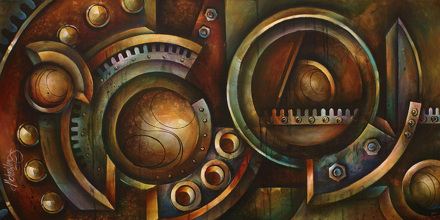 Mechanical Painting - assembly Required by Michael Lang