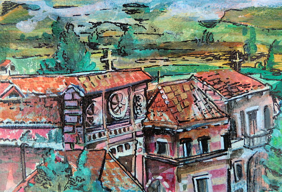 Assisi Painting - Assisi Italy by Mindy Newman