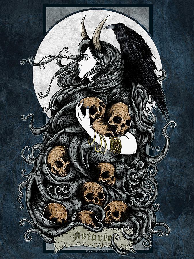 Demons Digital Art - Astarte by Maciej Kamuda