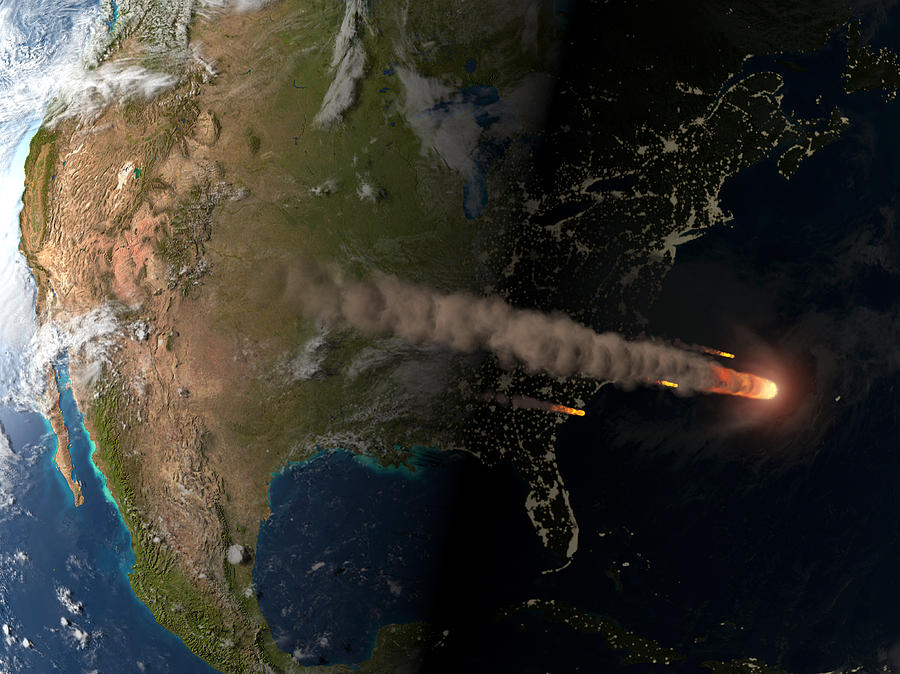 Asteroid Photograph - Asteroid Approaching Earth by Joe Tucciarone Library