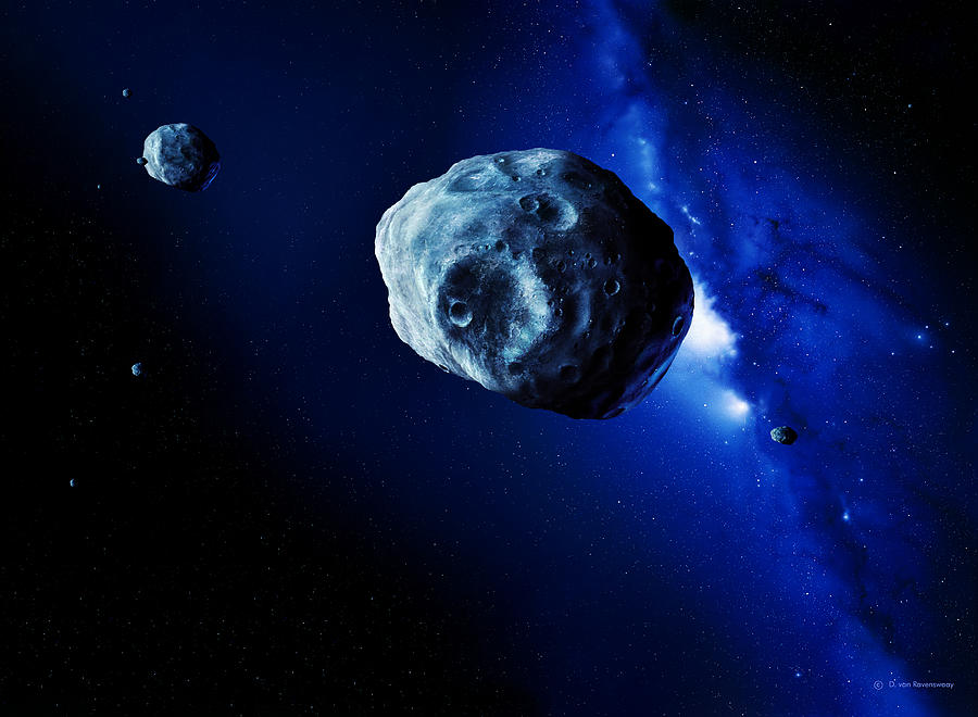 Astronomy Photograph - Asteroids by Detlev Van Ravenswaay