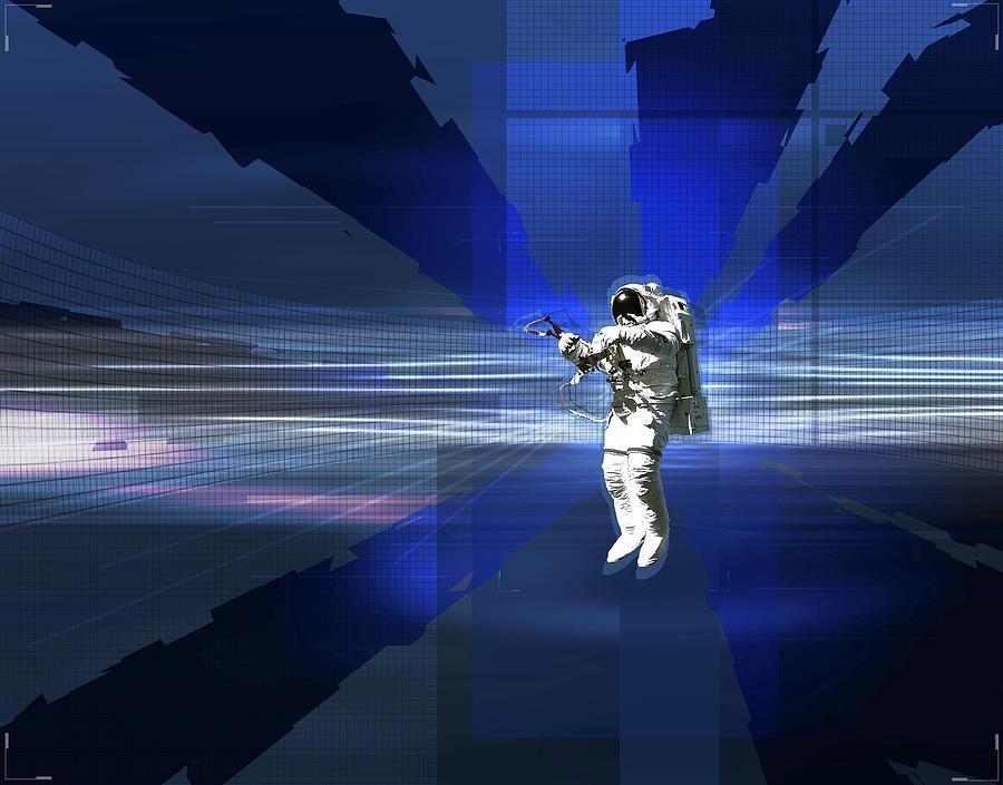 Astronaut In Space Digital Art by Jason Reed