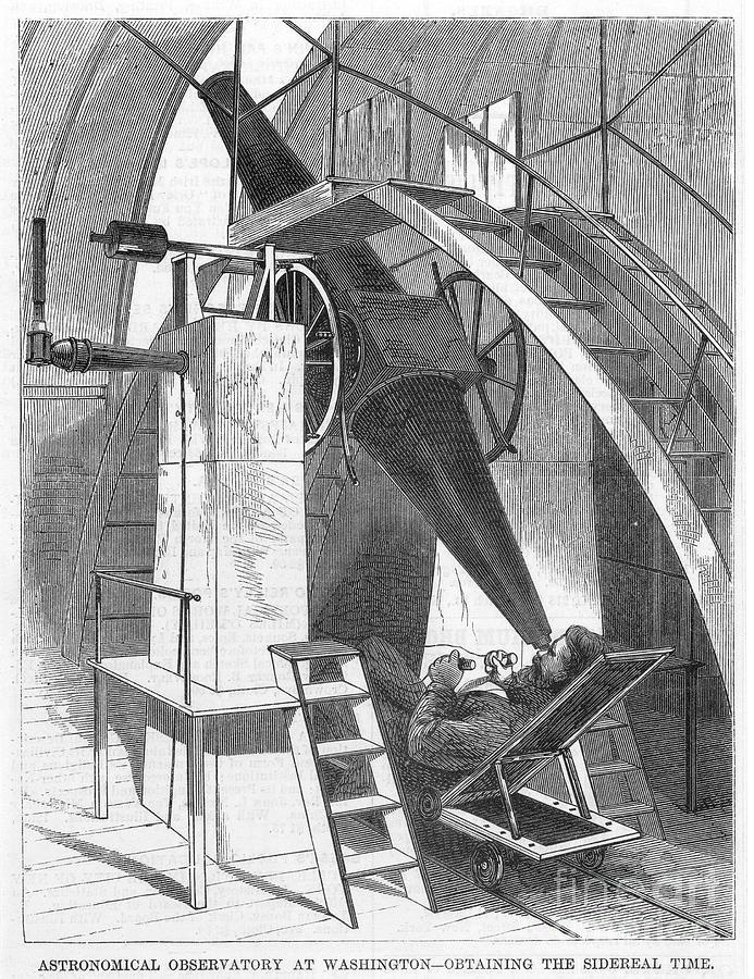 1869 Photograph - Astronomer, 1869 by Granger
