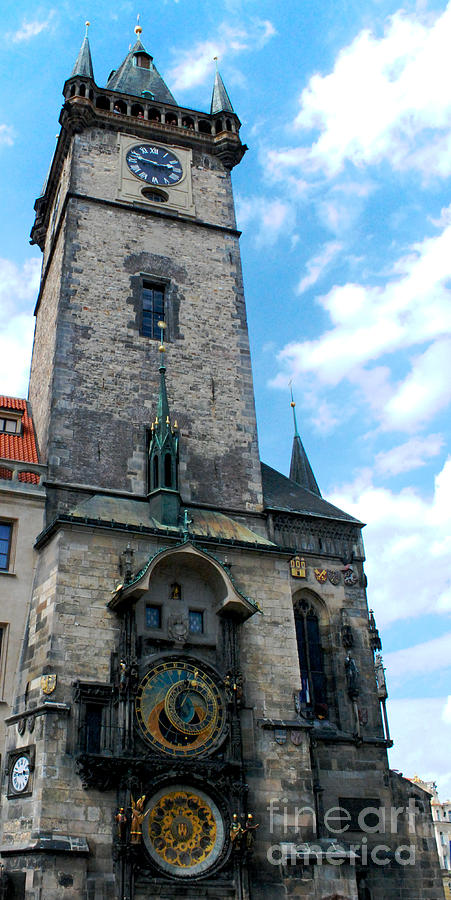 Astronomical Clock Photograph - Astronomical Clock In Prague by Pravine Chester