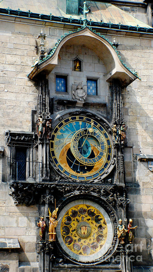 Astronomical Clock Photograph - Astronomical Clock by Pravine Chester