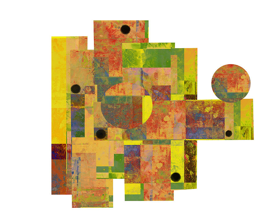Abstract Art Mixed Media - Asymmetry 1 Abstract Art Collage by Ann Powell