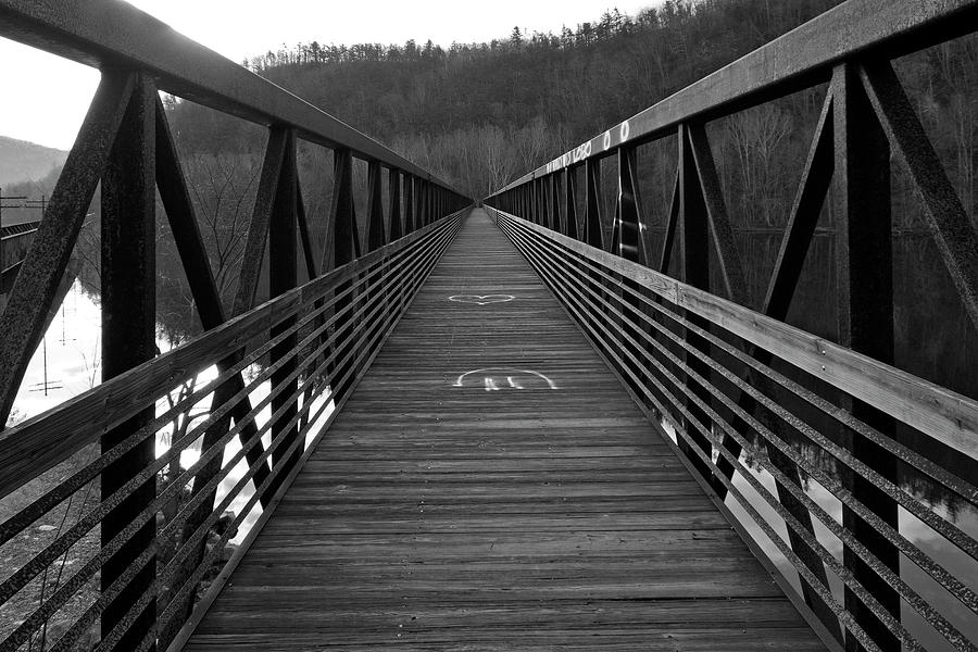 At Photograph - At Bridge Vanishing Point by Alan Raasch