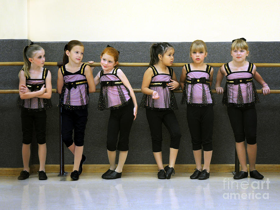 Dancers Photograph - At The Barre by Jane Brack