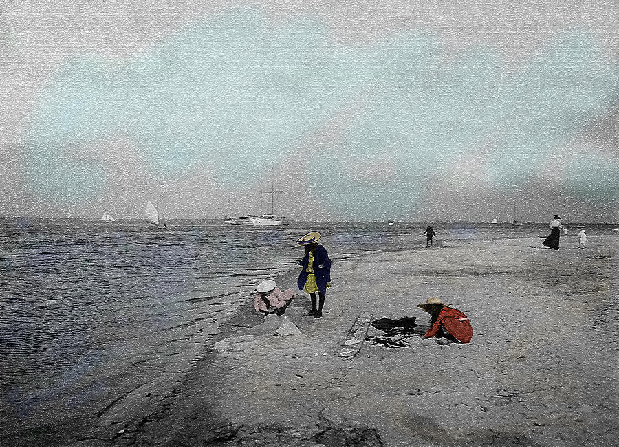 Victorian Photograph - At The Beach by Andrew Fare