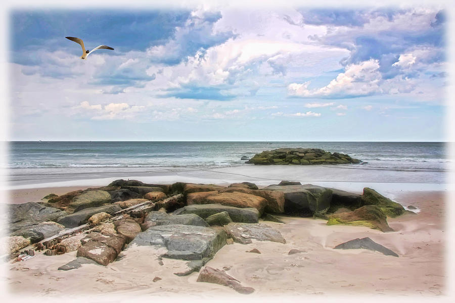 Seascape Photograph - At The Beach by Tom York Images