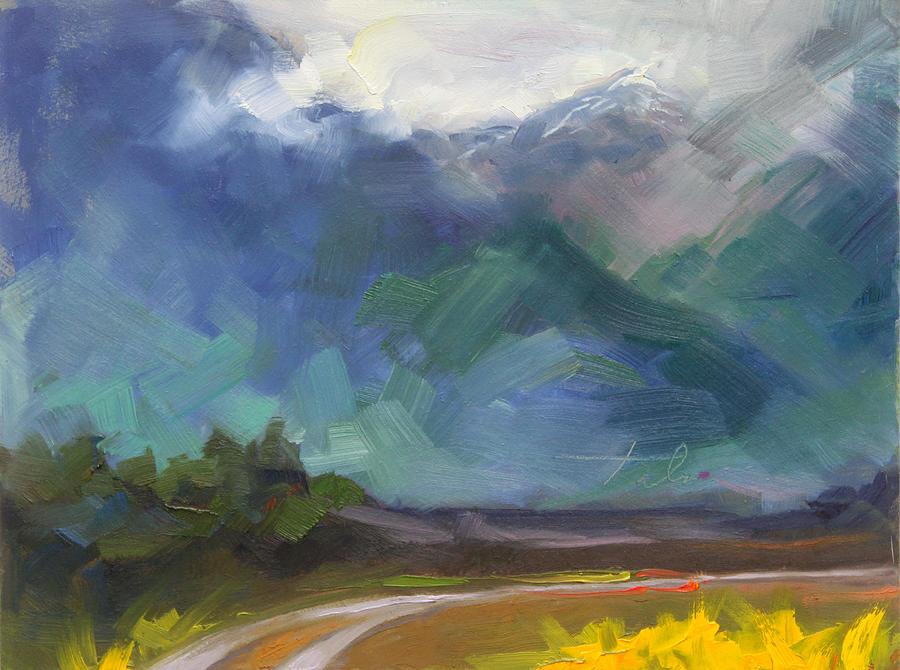 Alaska Painting - At The Feet Of Giants by Talya Johnson