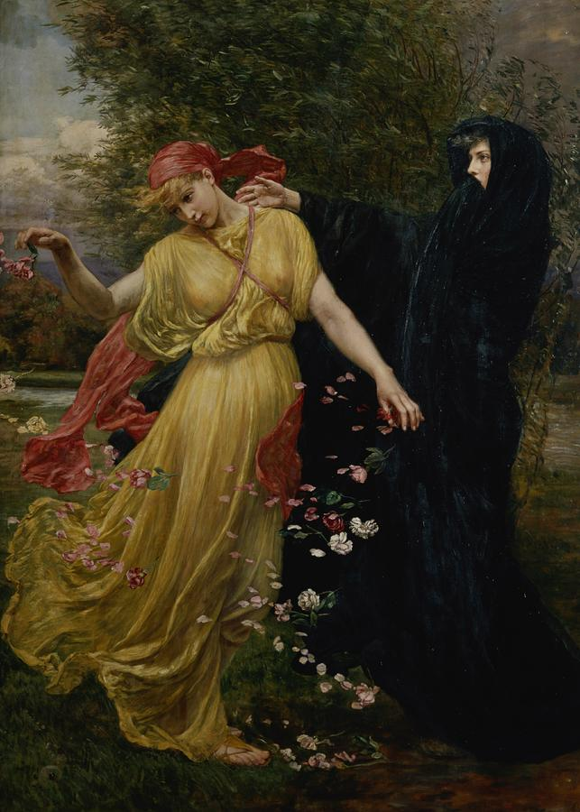 Summer Fades Away Painting - At The First Touch Of Winter Summer Fades Away by Valentine Cameron Prinsep