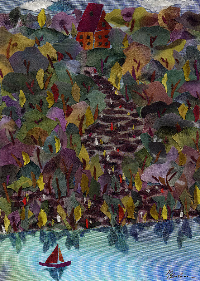 Lake Tapestry - Textile - At The Lake by Marina Gershman