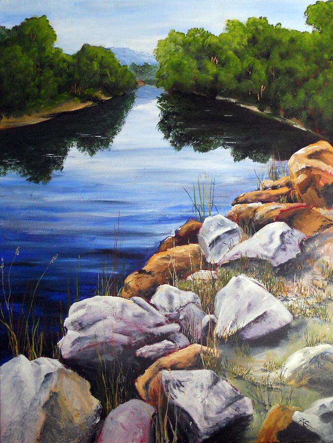 Creek Painting - At The Rocks by Carol McLagan