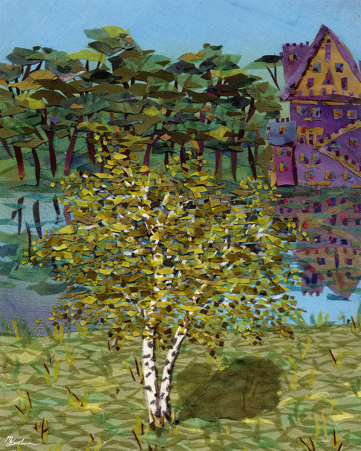 Birch Tapestry - Textile - At The Shore by Marina Gershman