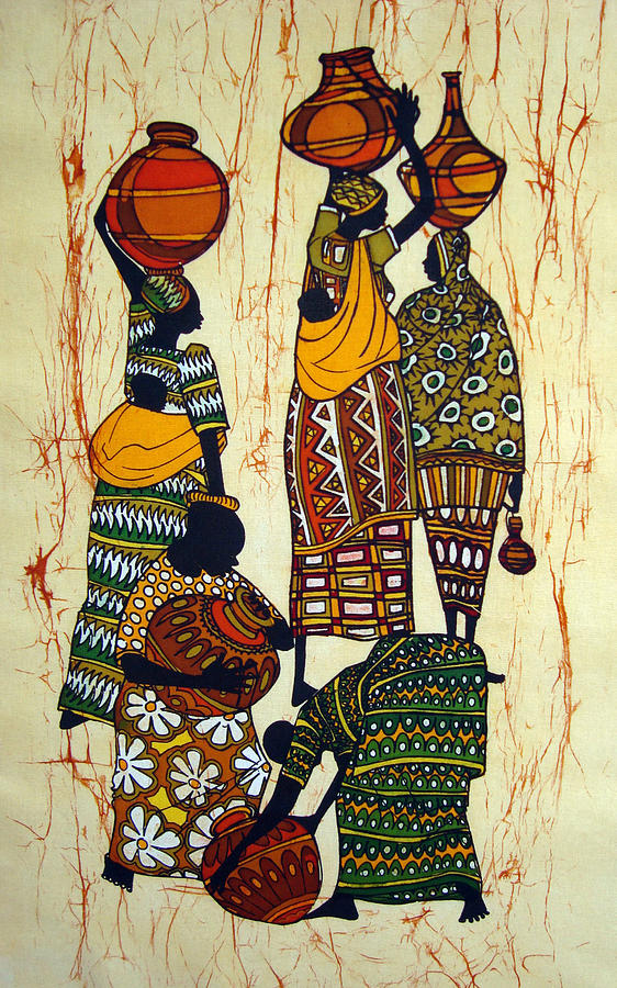 Well Tapestry - Textile - At The Well by Joseph Kalinda