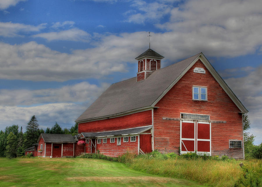 Barn Photograph - Atco Farms - 1920 by Lori Deiter
