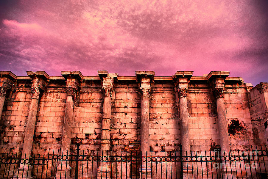 Athens Photograph - Athens - The Library Of Hadrian by Hristo Hristov