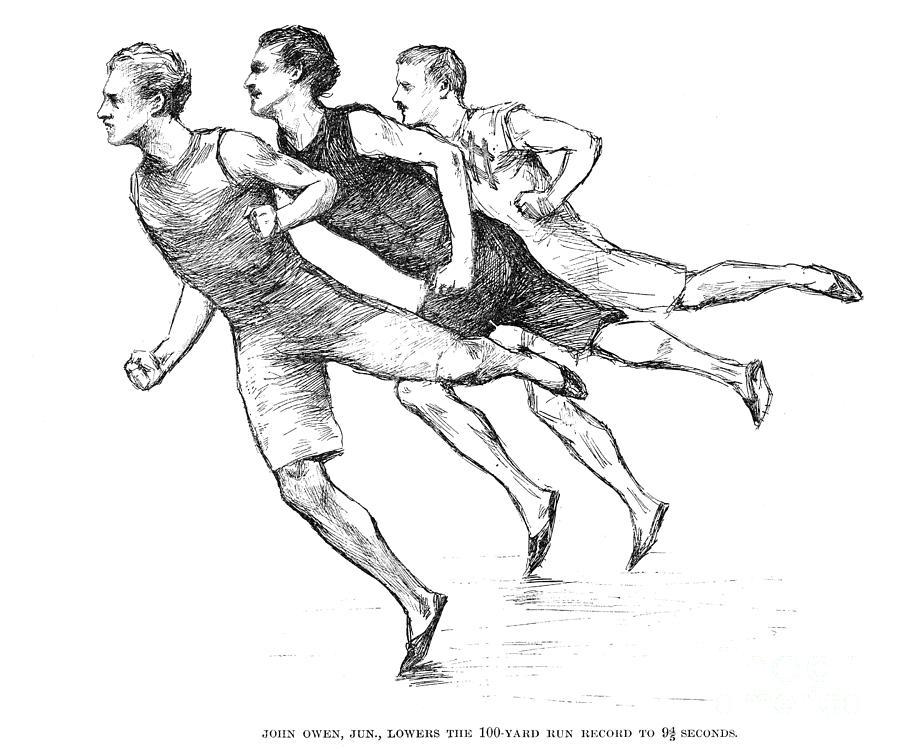 1890 Photograph - Athletics: Track, 1890 by Granger