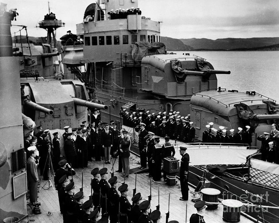 1941 Photograph - Atlantic Charter, 1941 by Granger