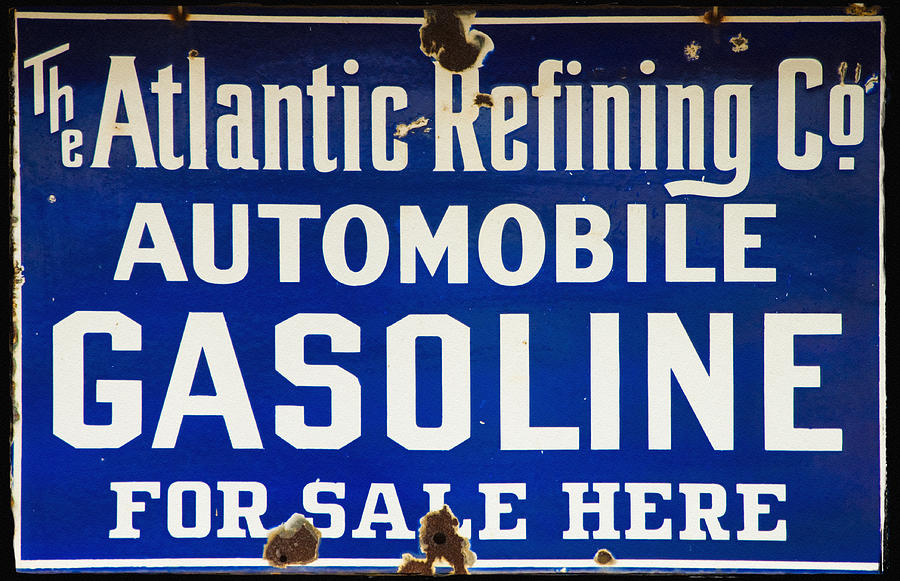 Automobile Photograph - Atlantic Refining Co Sign by Bill Cannon