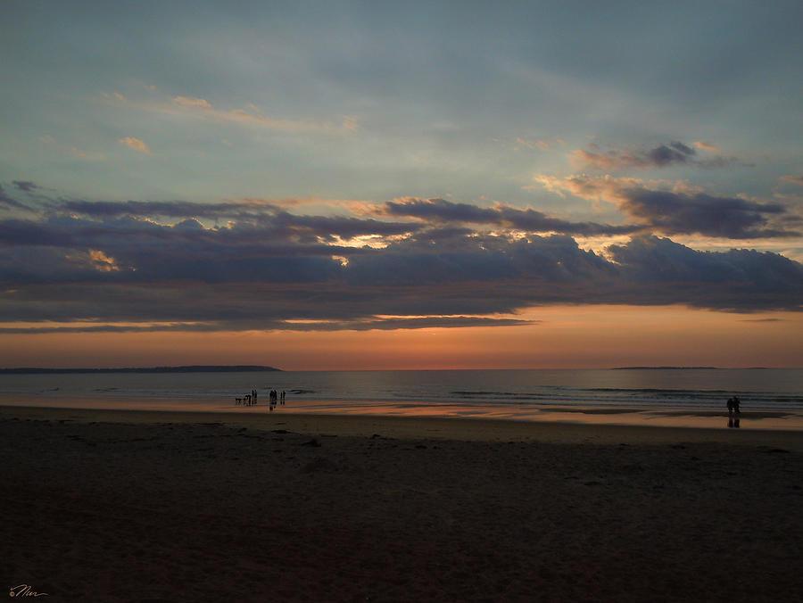 Beach Photograph - Atlantic Sunrise by Nancy Griswold